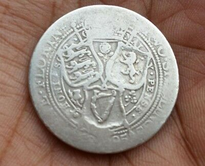 1895 - Silver Coin - Two Shillings / One Florin - Queen Victoria