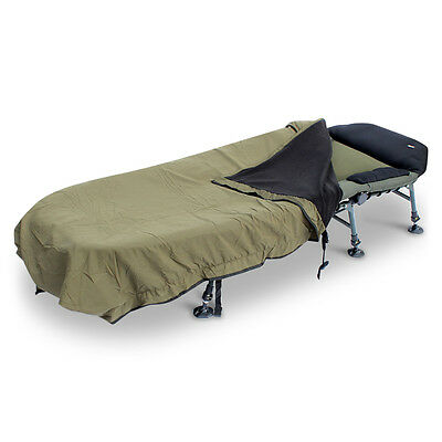 ABODE® Peach Skin Wind-out™ Fleece Bedchair Blanket Carp Fishing Bed Cover