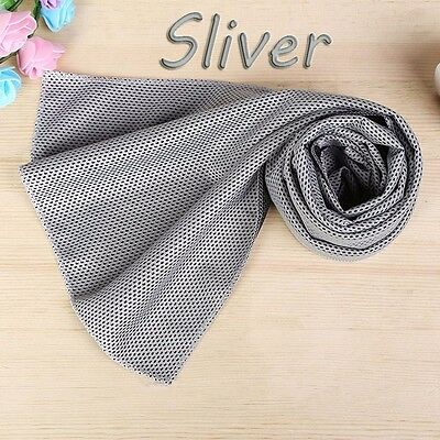 Instant Cooling Towel Chilling Ice Cold Gym Outdoor Sports & Camping- Silver
