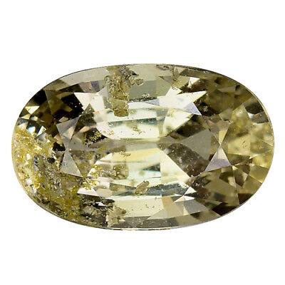 1.750Cts Superior sparkling yellow natural unheated sapphire oval see video