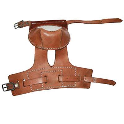 Hilason Western Horse Tack Leg Protection Leather Skid Boots