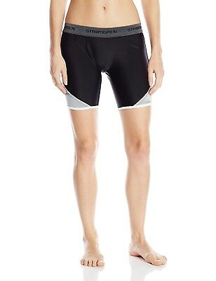 (Large, Black/Gray) - Cramer Women's Crossover Softball Sliding Shorts w/