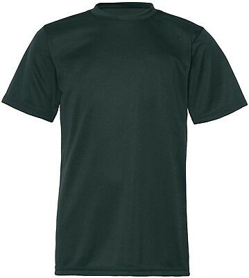 (Large, Forest Green) - C2 Sport 5200 - Youth Short Sleeve Performance T-Shirt