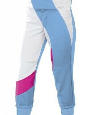 (Small, Columbia Blue/Fuchsia/White) - Women's Cyclone Pant. Teamwork