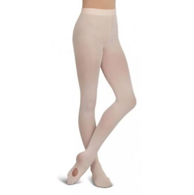 Capezio New NWT Girl's Transition Ultrasoft Adaptatoe Tights 1816X Footed 2 - 6