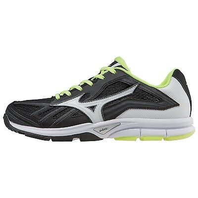 (5.5 B(M) US, Black-white) - Mizuno Women's Players Training Shoe. Free Delivery