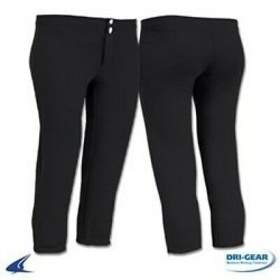 (Medium, Black) - Champro Women's Low-Rise Fastpitch Softball Pants