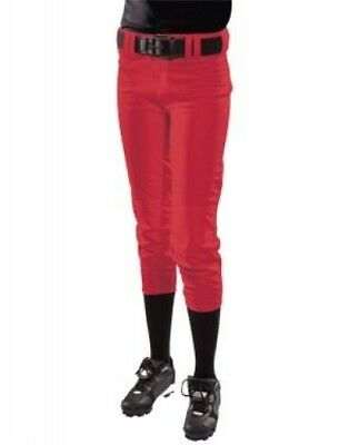 (XX-Large, Scarlet) - Women's Low Rise Polyester Pant. Teamwork