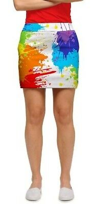 Loudmouth Golf Womens Skort: Drop Cloth. Free Delivery