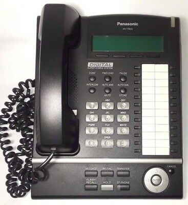 Panasonic Kx-T7633 Digital Business Phone 3 Lines Voice Mail, Caller ID, more