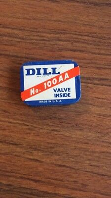 Dill no 100 AA Valve Metal Advertising box with Valves Vintage