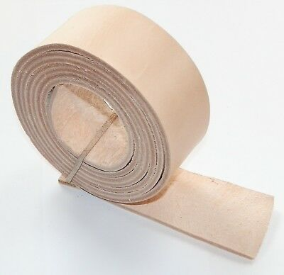2.5MM THICK NATURAL VEG TAN LEATHER BELT STRAPS BLANKS 143cm - 57 INCH LONG