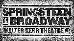 Springsteen on Broadway, Center Orchestra Sat, Dec 23rd Row F NO RESERVE!!!