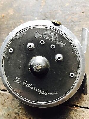 Hardy Fly Reel The Featherweight With Antique Fly Line