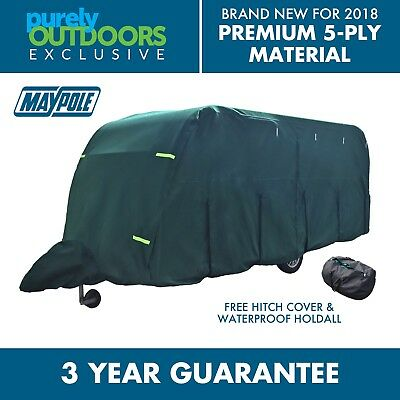 Maypole Ultimate 5-Ply Breathable Green Full Caravan Cover Fits 21-23ft MP95355