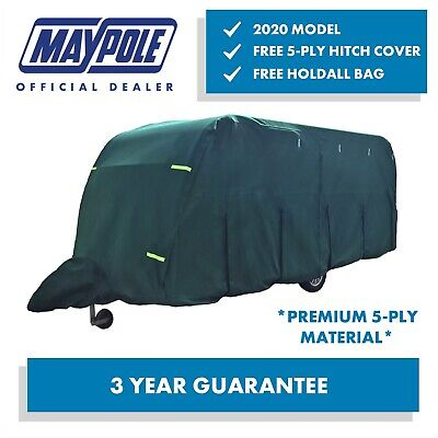 Maypole Ultimate 5-Ply Breathable Green Full Caravan Cover Fits 23-25ft MP95365