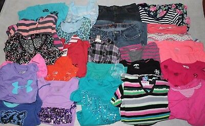 Huge Lot of Girl's Clothing Size 14/16 Under Armour, Justice Childrens Place etc