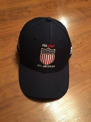 USA Rugby Eagles All American Official Team Hat Cap Issue Adidas