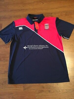 USA Rugby Eagles All American Polo Official Player Issue Canterbury XXL