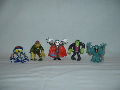 SCOOBY DOO MYSTERY MATES Set Of 5 MONSTER Action Figure Toys (HALLOWEEN/DRACULA)