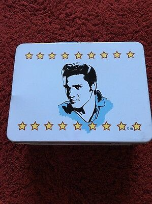 Vintage Elvis Tin Lunch Box. 8 Inches X Just Over 6 Inches X 4 Inches