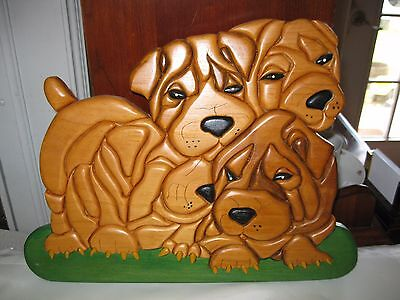 SHAR PEI  DOG PICTURE SIGN wood HANGING PLAQUE Sharpei puppy puppies