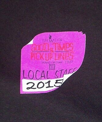 Toby Keith 2015 Good Times & Pick Up Lines Tour Local Crew T-shirt XL Never Worn