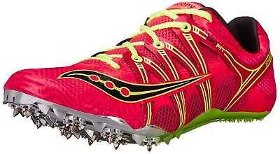 (9.5 B(M) US, Coral/Citron) - Saucony Women's Showdown Spike Shoe. Free Shipping