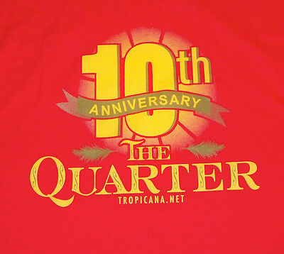 Tropicana Casino The Quarter 10th Anniversary T-shirt L Never Worn