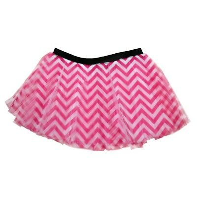 (Pink) - Runner's Printed Tutu Chevron. Gone For a RUN. Free Shipping