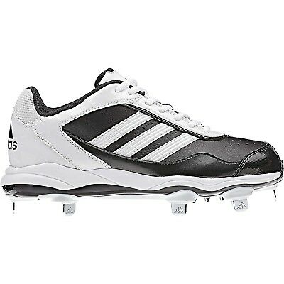 Adidas Women's Abbott Pro Low Metal Fastpitch Cleat, Black/White/Black, SZ 12