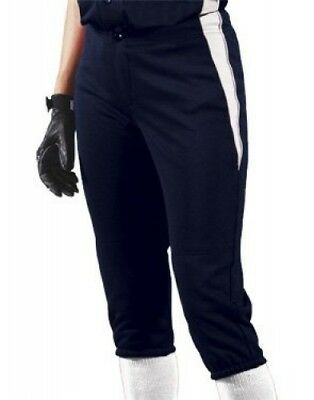 (Small, Navy/White/White) - Women's Changeup Softball Pant. Teamwork