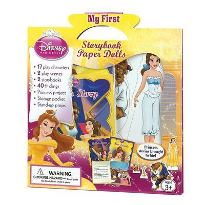 Disney's Princess Belle Beauty and The Beast Paper Doll Fairytale Storybook