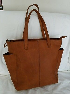fb7d28b0203de2 Duluth Trading Company Women's Lifetime Leather Tote Bag Cognac Color