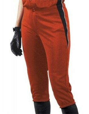 (Large, Orange/Black/White) - Women's Changeup Softball Pant. Teamwork