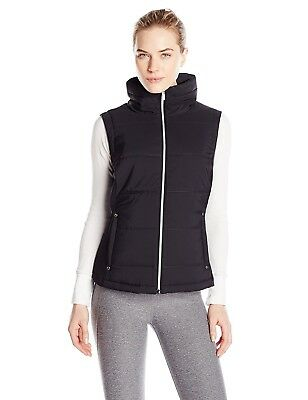 (X-Small, Black) - Cutter & Buck Women's CB Weathertec Claudia Quilted Vest