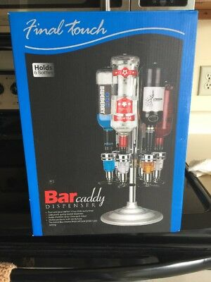Final Touch 6 Bottle Bar Caddy Liquor Dispenser NIB