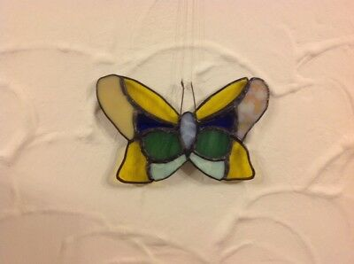 Hand Made Stain Glass Butterfly
