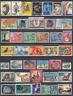 Collection Of AFRICA Ghana Used Commemorative Stamps