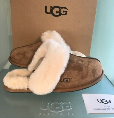 *new* Authentic Women's Shoes Ugg Scuffette Ii Slippers 5661 Chestnut 6 7 8 9