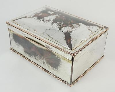 Lovely ANTIQUE SILVER PLATE CIGAR BOX