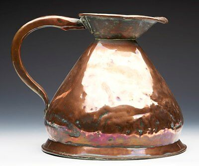 Large Antique One Gallon Copper Measuring Jug 19Th C.