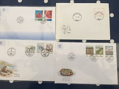 Aland 4 different FDC covers