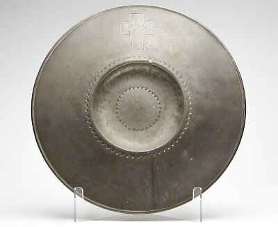 Scottish Pewter Communion Paten By Robert Kinniburgh C.1800