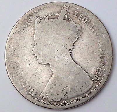 Dated : 1865 - mdccclxv - Silver Coin - Gothic Florin - Queen Victoria