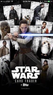 Topps STAR WARS CARD TRADER ALL CARDS are $2 each! THESE ARE DIGITAL CARDS