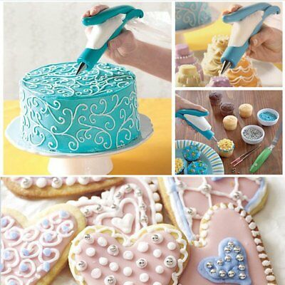 BlueBeach® Cake Decorating Pen Set Pastry Nozzle Tips Fondant Cake with Icing