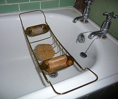 Original Solid Brass Extendable Bath Rack/Tray - Victorian or Edwardian?