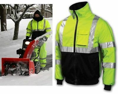 Tingley Hi Vis Job Sight Bomber II Jacket With Lining - J26112 - Free Shipping!!