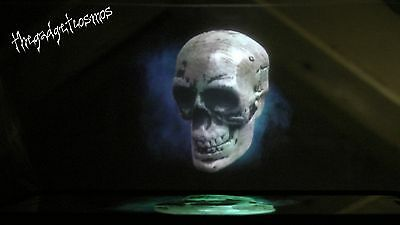 Halloween Floating Skull / Ghost Animated Illusion Prop Decoration VIDEO MOBILE